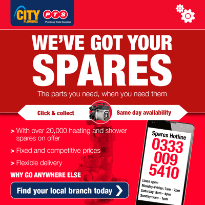AD: We've got your spares! City Plumbing same day availability click here to find your local branch